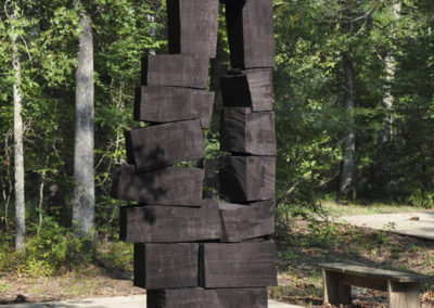 1179 Imminent Collapse<br>Redwood dyed black, 9 ft high