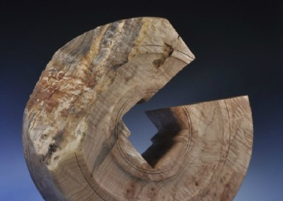 1182 Fractured Millstone (2014)<br>Fiddleback Maple, 22x7.5 inches