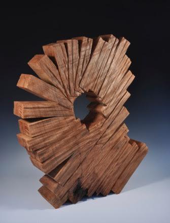 1227 Spiral Adjustment<br>Curly Redwood, 27.5 H x 25 W x 5.25 D