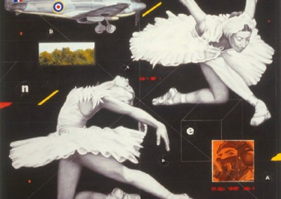 #8 (2010)<br>mixed media on canvas, 72x96 inches