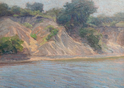 Arkansas River (1928)<br>oil on canvas, 15.5 x 17.5 inches