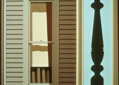 August House (1984)<br>acrylic on canvas, 47.5 x 38 inches