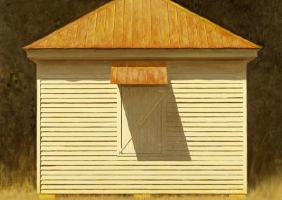 Battened Down (2014)<br>oil on canvas, 30x30 inches, SOLD