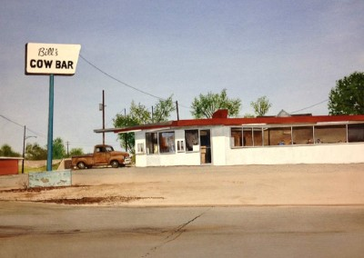 Bill's Cow Bar (2014)<br>watercolor on paper, 22x30 inches, SOLD