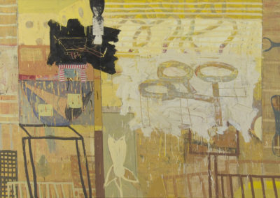 Binding: preservation; dissemination (2010)<br>mixed media on canvas, 48 x 72 inches
