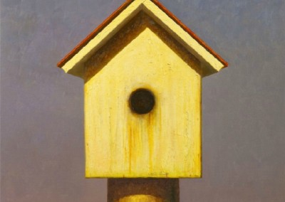 Bird House (2014)<br>oil on canvas, 30x24 inches, SOLD