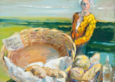 Bread Basket (2012)<br>oil on linen on board, 12x12 inches