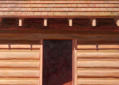 Cabin Door (2016)<br>oil on canvas, 30 x 24 inches