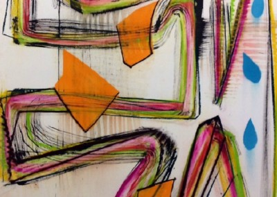 Clown (2014)<br>pastel and ink on paper, 41x29 inches