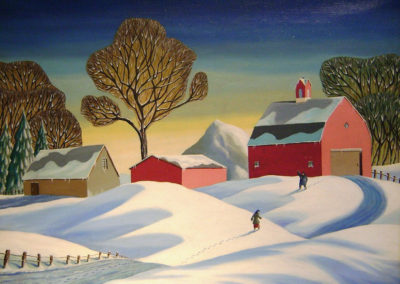 Coming Home (1948)<br>oil on canvas, 30 x 40 inches