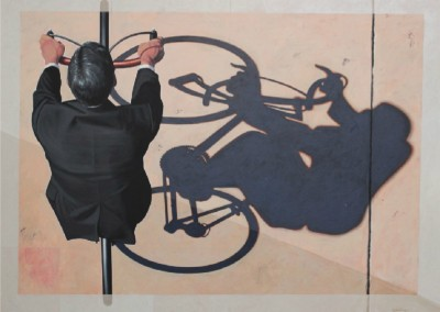 Commuter (2012)<br>acrylic on canvas, 36x48 inches