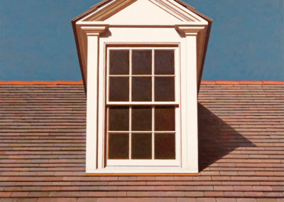Dormer, New Orleans (2018-2019)<br>oil on canvas, 36 x 36 inches