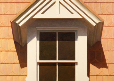 Dormer with Mansard Roof (2010)<br>oil on canvas, 60 x 42 inches