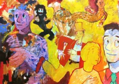 East of Eden (2007-2010)<br>oil on canvas, 36x48 inches