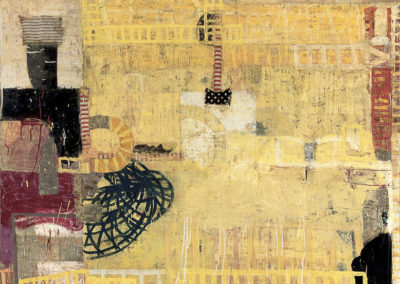 Emblematic: turning; reversal (2012)<br>oil and mixed media on canvas, 48 x 36 inches