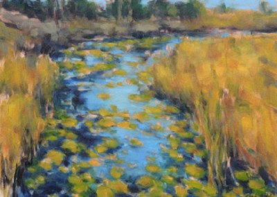 Evening Marsh (2013)<br>oil on canvas, 9x12 inches