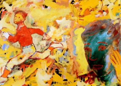 Exit Stage Right (2010-2011)<br>oil on canvas, 24x36 inches