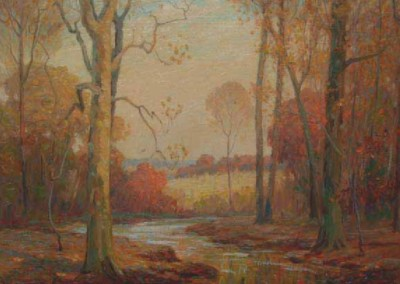Fall Creek (1927)<br>oil on canvas, 30x34 inches
