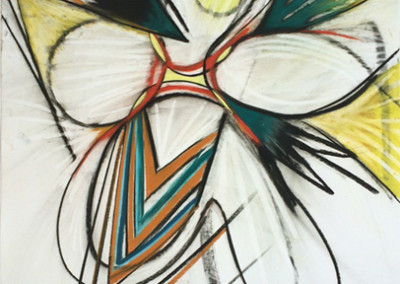 Fanfare (2012)<br>pastel on paper, 41 x 29 inches