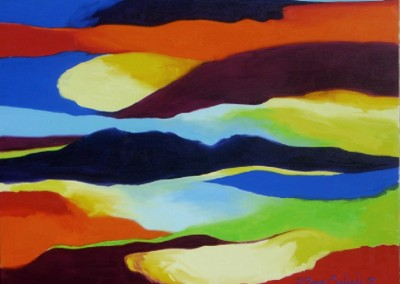 Flow 1 (2007)<br>oil on canvas, 36x48 inches