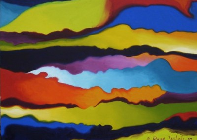 Flow 2 (2007)<br>oil on canvas, 36x48 inches