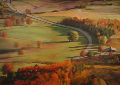 From Petit Jean Mountain (2007)<br>oil on canvas, 48x72 inches