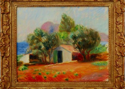 Garden Le Ciotat (1926)<br>oil on canvas board, 13x16 inches