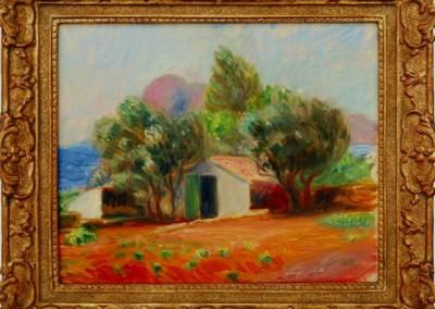 Garden Le Ciotat (1926)<br>oil on canvas board, 13x16 inches