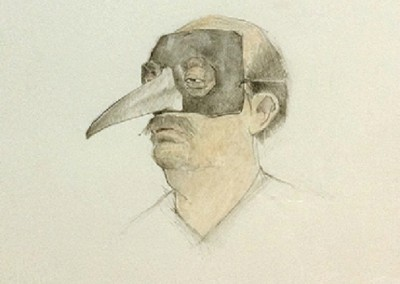 Gary (2008)<br>pencil and watercolor on paper, 11.5x9 inches