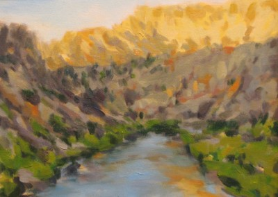 Golden Hills (2011)<br>oil on canvas, 9x12 inches