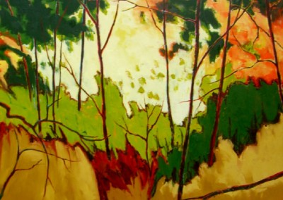 Green Leaves (2010)<br>oil on canvas, 60x72 inches