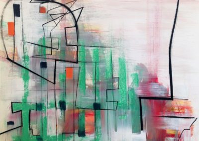 Greenway (2014)<br>pastel and acrylic on paper, 41 x 29 inches