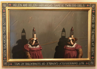 Helen and Helen (1988)<br>oil on canvas, 22 x 35 inches