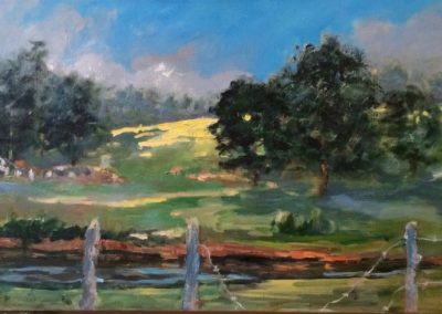 Homestead<br>oil on canvas, 12 x 24 inches