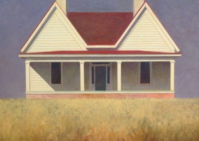 House With Two Gables (2016)<br>oil on canvas, 27 x 30 inches