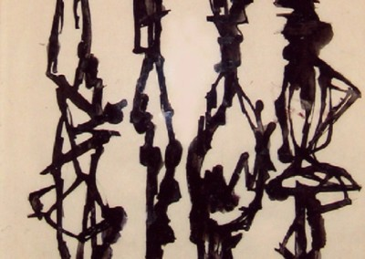 Ideas for Sculptures (1956)<br>ink on paper, 11x8 inches