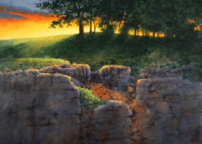 Last Light (2011)<br>acrylic on canvas, 48x36 inches