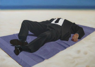 Leisure Suit 2 (2009)<br>acrylic on canvas, 36x48 inches