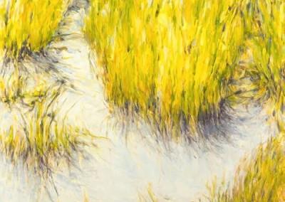 Light Weaving (2015)<br>oil on linen, 48 x 48 inches