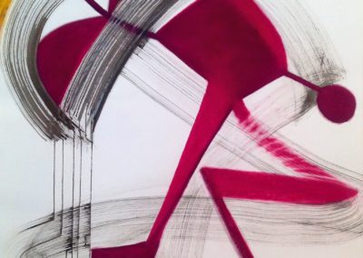 Magenta (2015)<br>ink on paper, 41.5 x 29.5 inches