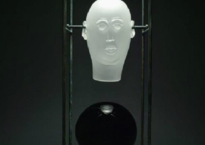 Meta Physical #5 (2009)<br>glass and steel, 51x18x18 inches