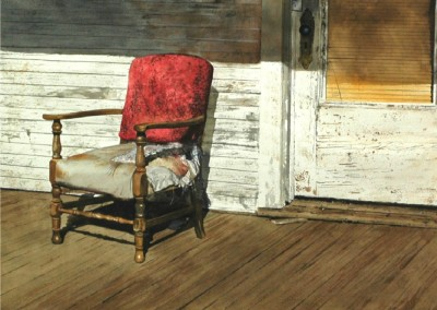 Ms. Wright's Chair (2013)<br>watercolor on paper, 21x29 inches