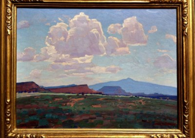 New Mexico Landscape (circa 1934)<br>oil on canvas, 16x21 inches, SOLD