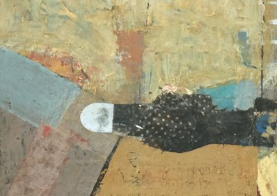 Odyssey: perceptive; encounter No. 1<br>oil and mixed media on canvas, 14 x 11 inches