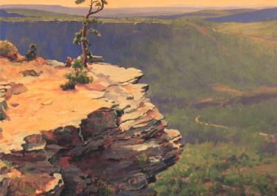 Petit Jean Overlook (1935)<br>oil on masonite, 31x35 inches, Private Collection