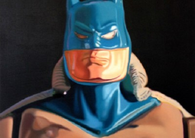 Portrait of Batman<br>oil on canvas, 40x30 inches