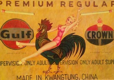 Premium Regular (2008)<br>oil on paper, 17x25 inches
