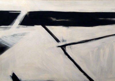 Riverbed (c. 1958)<br>oil on canvas, 52 x 91 inches