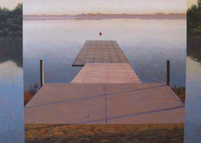 Sculler's Launch 2<br>acrylic on canvas, 36 x 48 inches