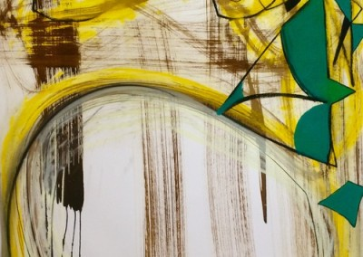 Shards (2015)<br>pastel, ink on paper, 41 x 29 inches